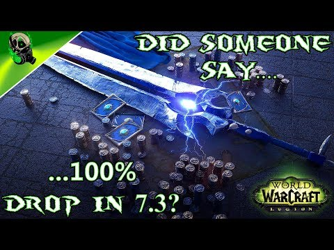 Thunderfury 100% drop rate 7.3 - Outlaw Hidden Artifact Appearance World of Warcraft  Legion