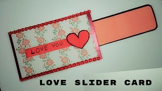 love slider card for scrapbook|diy anniversary cards|scrapbook card ideas
