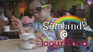 Yogurtland! Ice Cream Challenge + Frozen Yogurt Toppings Galore by SamLandTV!
