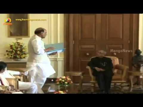 NDA leaders met President Pranab Mukherjee to convey support to Narendra Modi led government