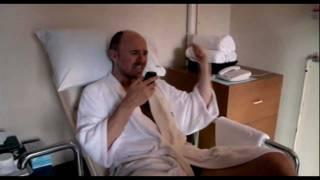 Karl Pilkington gets a massage in a Thai female correctional facility