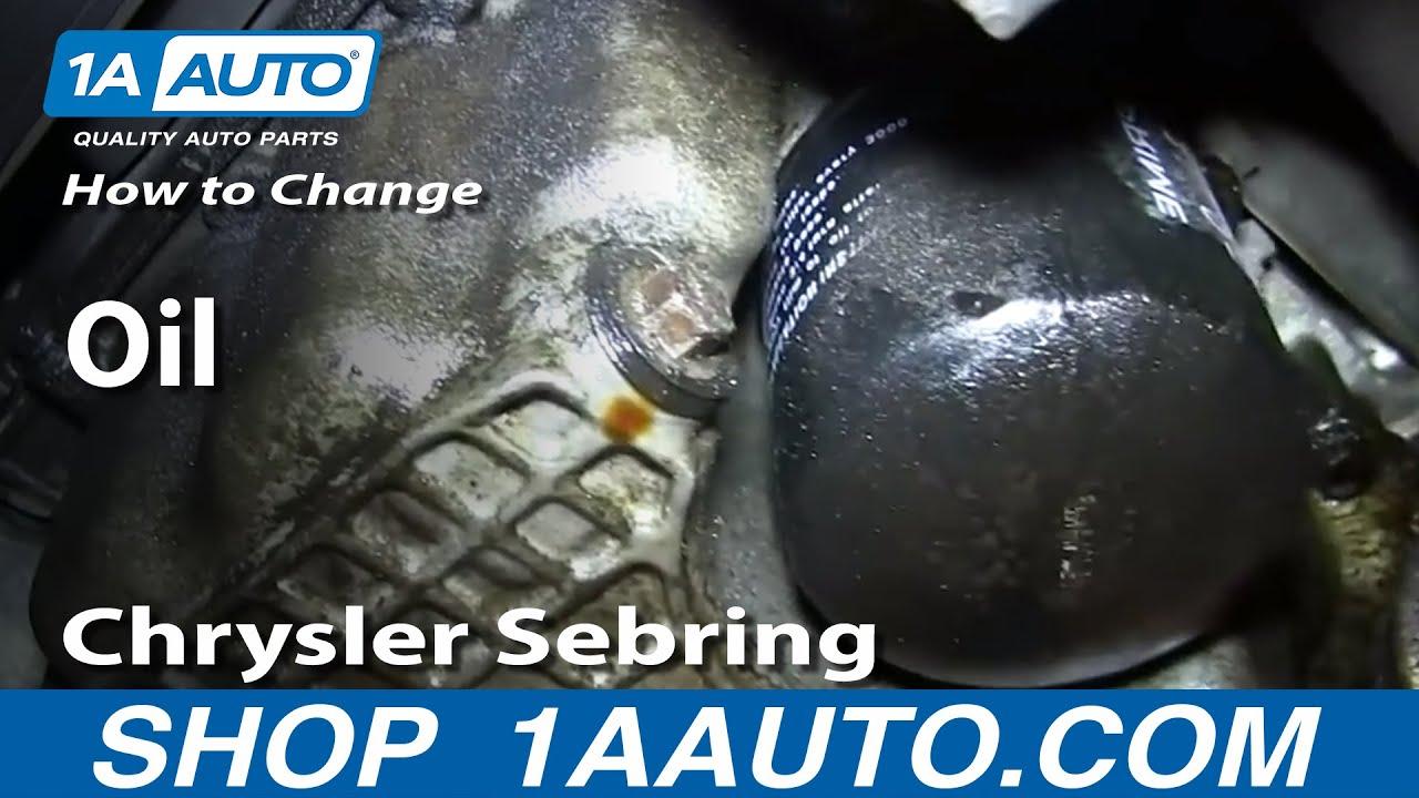 oldsmobile bravada engine diagram how to do an oil change 2001 06 chrysler sebring 2 7l v6  how to do an oil change 2001 06 chrysler sebring 2 7l v6