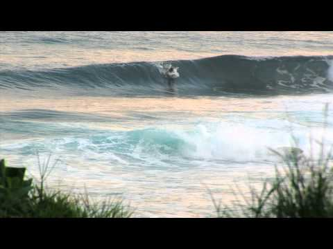 Surfers at Soup Bowl in Barbados... scene from Welcome To Today