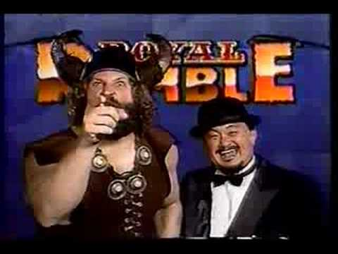 Berserker Mr. Fuji WWF Royal Rumble 1992