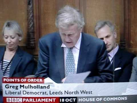 House of Commons - point of order to Nigel Evans