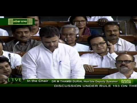 Rahul Gandhi speech on Farmers in LokSabha | 20 April, 2015