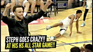 Steph Curry GOES CRAZY After NASTY Ankle Breaker at His HS ALL Star Game!!