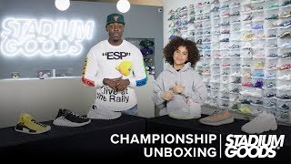"Kanye West vs. Pharrell Williams: Who's Got Better Sneakers? | Stadium Goods ""Championship Unboxing"""