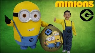 Super Giant Minions Surprise toys egg Opening Minion Bob Stuart Phil Ckn Toys