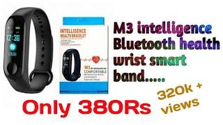 M3 intelligence Bluetooth health wrist smart band watch monitor/smart bracelet... Unboxing