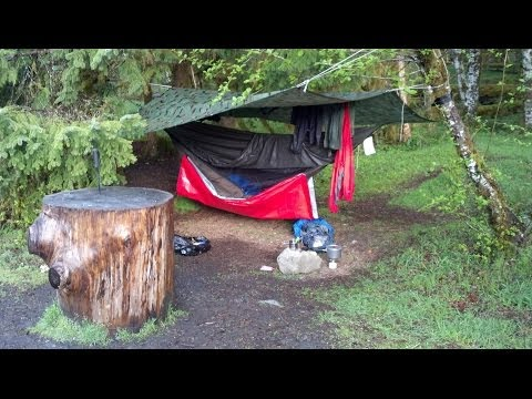 Hennessy Hammock - Winter camping and rain