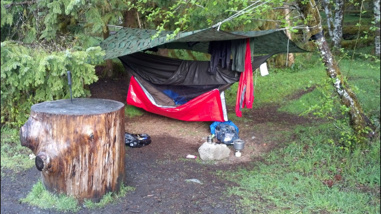 Hennessy Hammock Winter Camping And Rain Youtube