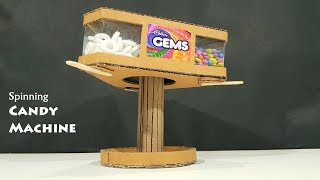 How to make A Spinning Candy Vending Machine Out of cardboard