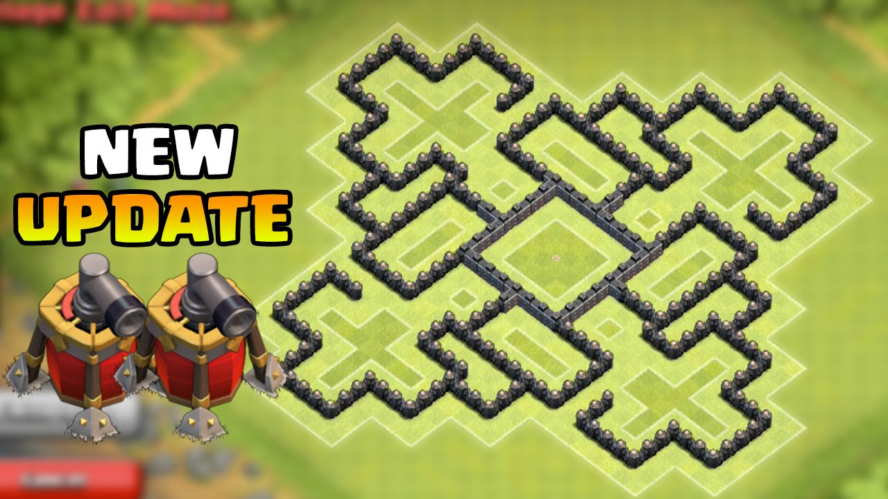 Clash of clans town hall 9 th9 best farming base 2 air sweepers