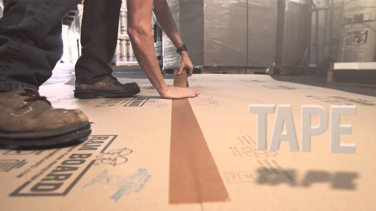 Ram Board 174 Temporary Floor Protection Youtube