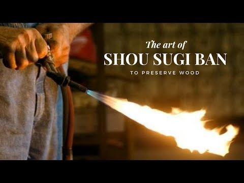 Traditional Japanese Way to Preserve Wood with Fire