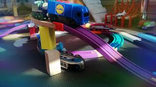 Ghost, Trains, Crossing Challenge, #12.1, intersection,Brio and ,Thomas the ,Tank Engine, Crash
