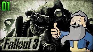 "Fallout 3 Gameplay Walkthrough Part 1 - ""Genny The Jerk!!!"" 1080p HD"