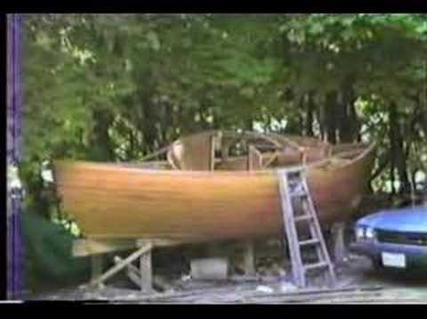 Constructing Bivalve- a wooden sailboat