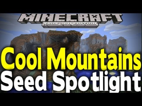 Minecraft Xbox 360 - COOL OVERHANGS & MOUNTAINS (Seed Spotlight) [TU12]