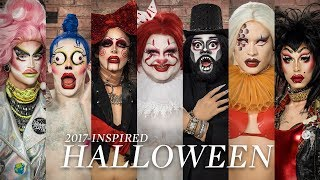 Drag Queens Create 2017-Inspired Halloween Looks | Halloween Transformation