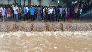Mulund Station. Full of waters. Flooded Mumbai 29.AuG.217