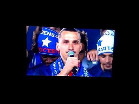 Zlatan Ibrahimovic says goodbye to PSG