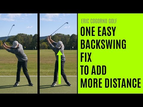 GOLF: One Easy Backswing Fix To Add More Distance - Eric Cogorno Golf Lesson