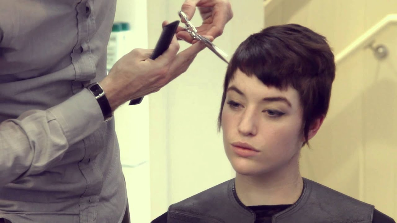 Short Pixie Haircut With Burberry Colour By Paul Amp Martin
