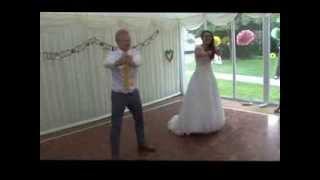 Wedding first dance crazy funny surprise routine evolution