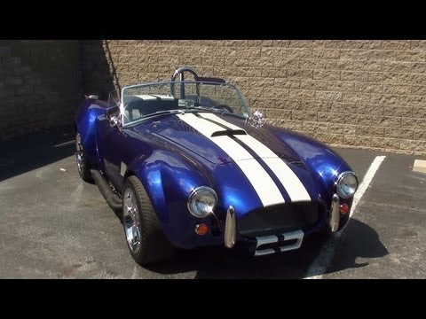 Start-up 1965 Shelby AC Cobra Replica 427 Ford V8 and Walkaround