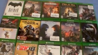 Xbox One Video Game Collection 2018