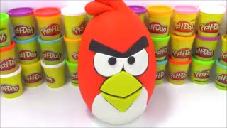 Giant Angry Bird PLAYDOH Surprise Egg Red Angry Bird Toy Opening