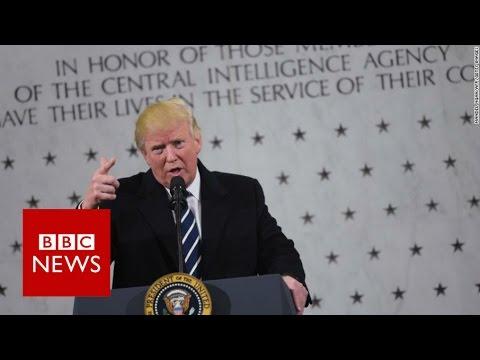 """Donald Trump to CIA """"I love you, I respect you"""" - BBC News"""