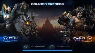 Starcraft 2 Co-Op: Lvl 14 Fenix with Swann on Trains