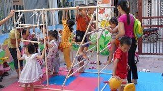 Một Buổi Chơi Leo Trèo Vui Nhộn Tại Khu Vui Chơi Trẻ Em ❤ TRÒ CHƠI TRẺ EM ❤ Kids Rope Climb