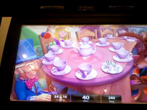 alice in wonderland mad tea party slot machine