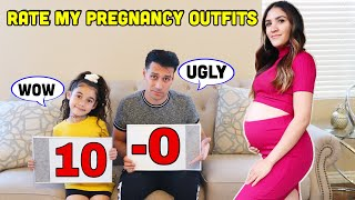 WE RATE HER PREGNANCY OUTFITS 😍 | Jancy Family