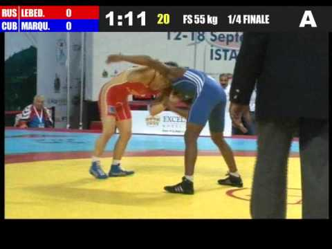 55kg - Victor Lebedev (RUS) vs Frank chamizo Marquez (CUB) 2011 world championship