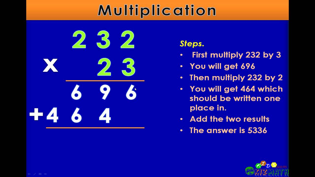 Multiplication with Two Digits - Math Lesson for 4th & 5th Grade ...