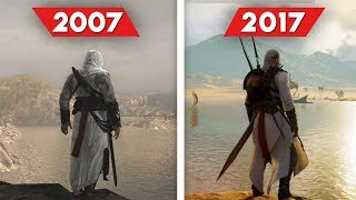Assassin's Creed Comparison - 2007 vs 2017 (Graphics and Gameplay Evolution)