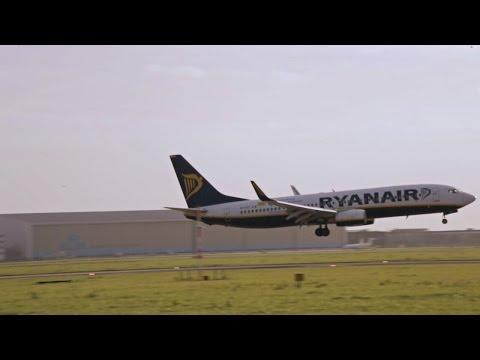 Ryanair - Boeing 737-800 EI-DYF FR3102- Landing on Schiphol Airport, Amsterdam