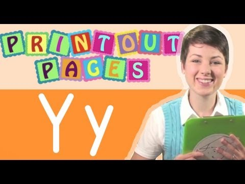 Learn to write letter Y with Ms. Victoria, Learn the alphabet with Printout Pages on TinyGrads