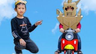 Trò Chơi Rô Bốt Học Lái Xe Siêu Hài Hước - Bé Nhím TV - Đồ Chơi Trẻ Em Thiếu Nhi