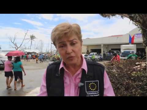 EU Commissioner Georgieva Sees WFP Relief Ops In Typhoon-Hit Philippines
