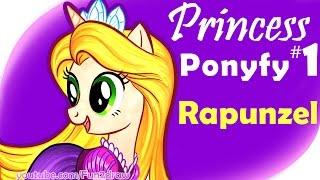 Drawing Disney Pony: Rapunzel + Flynn - SOOOO FUNNY! OMG! Fun2draw