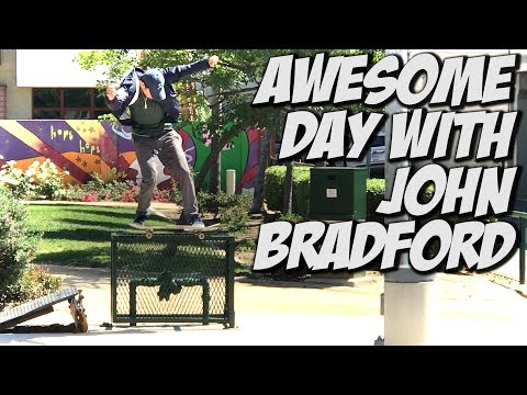 JOHN BRADFORD SKATING THE STREETS !!! - A DAY WITH NKA -