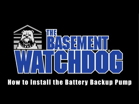 Installing a Basement Watchdog Battery Backup Sump Pump. Battery Backup sump pump installation