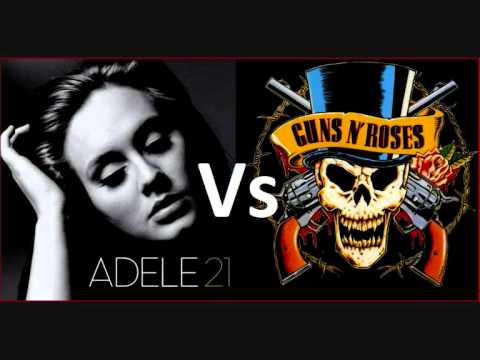 Adele Vs Guns N' Roses - 'Someone Likes Knockin' On Heaven's Door' (MASH UP BY @daftbeatles)