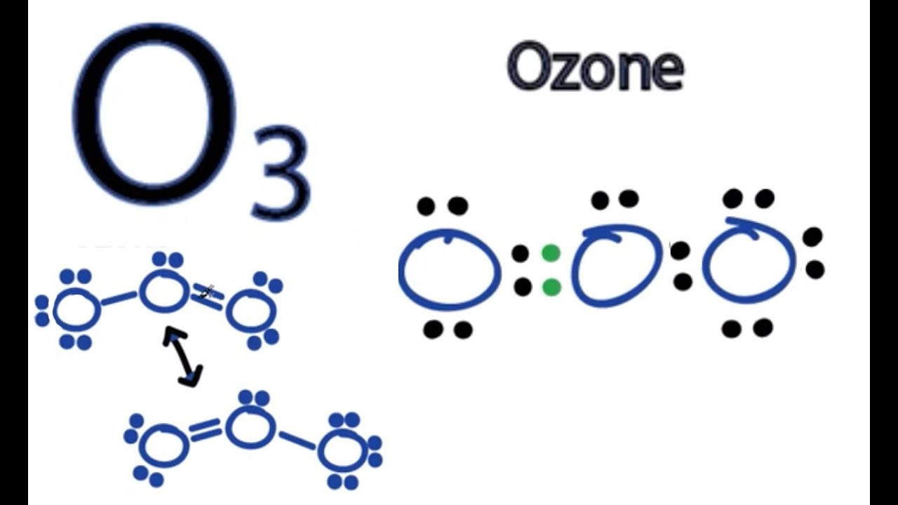 Ozone Structural Formula O3 Lewis Structure - How to